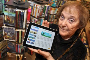 Simon Fraser University education professor emerita Selma Wassermann has created an iPad app called My Word! Reader. Photo taken by Simon Fraser University Public Affairs and Media Relations.