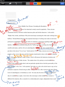 Sample Graded Paper with MarkUp app